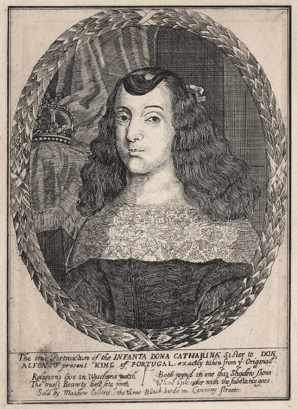 Catherine of Braganza, after Dirk Stoop, 1656-1662 - NPG D18434 - © National Portrait Gallery, London