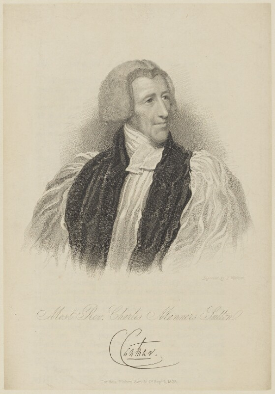 Charles Manners-Sutton, by Thomas Woolnoth, published by  Fisher Son & Co, published 1828 - NPG D15550 - © National Portrait Gallery, London