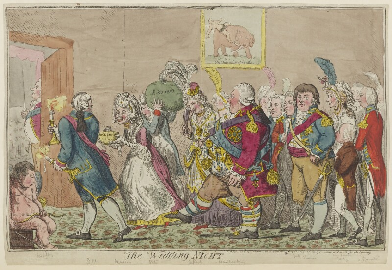 'The wedding night', by Isaac Cruikshank, published by  Samuel William Fores, published 20 May 1797 - NPG D15555 - © National Portrait Gallery, London