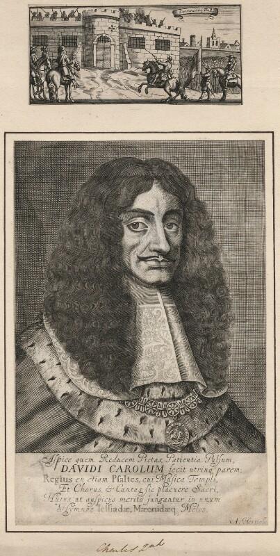 King Charles II, by Abraham Hertochs (Hertocks), 1660s - NPG D18516 - © National Portrait Gallery, London