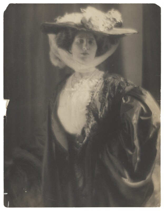 Lady Ottoline Morrell, by Baron Adolph de Meyer, 1912 - NPG P1008 - © National Portrait Gallery, London