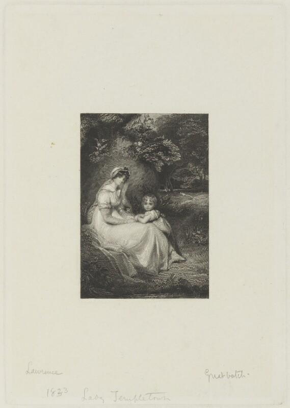 Mary Upton (née Montagu), Viscountess Templetown; Henry Montagu Upton, 2nd Viscount Templetown, by William Greatbach, after  Sir Thomas Lawrence, (circa 1801) - NPG D15657 - © National Portrait Gallery, London