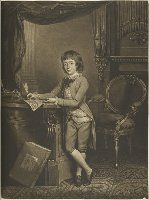Samuel Wesley, by William Dickinson, published by  J. Walker, after  John Russell, published 1778 - NPG D15676 - © National Portrait Gallery, London