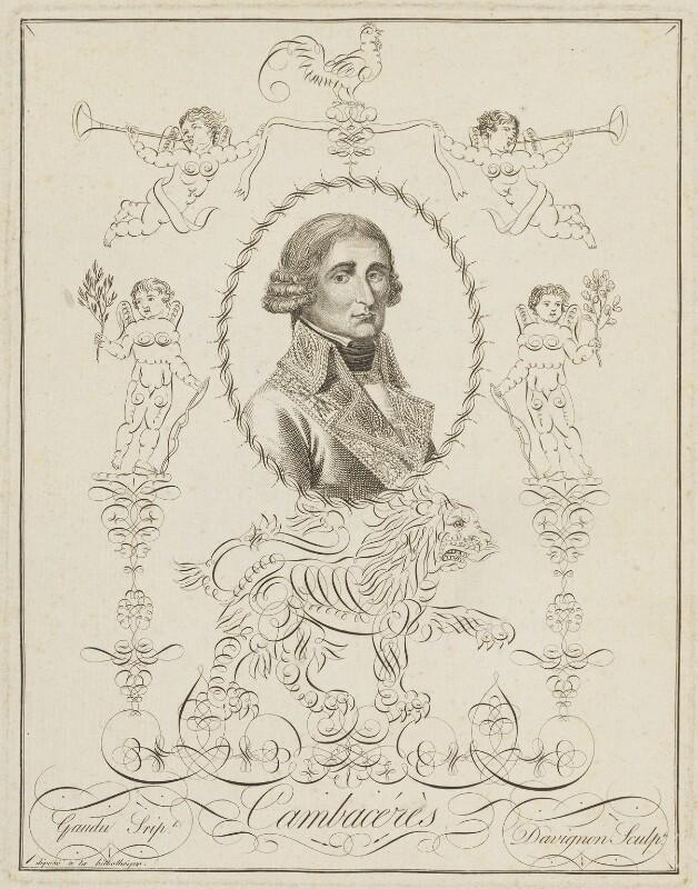 Jean Jacques Régis de Cambacérès, by Jean-François Davignon, and by  Gaudu, circa 1805-1815 - NPG D15711 - © National Portrait Gallery, London