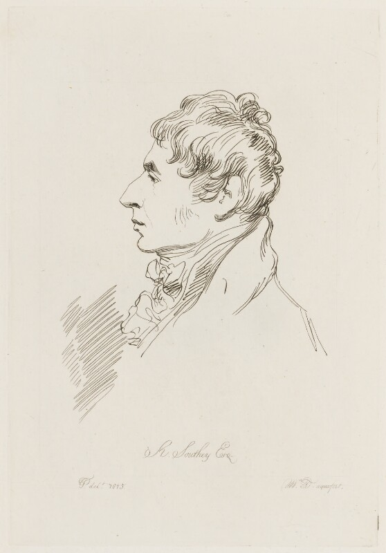 Robert Southey, by Mary Dawson Turner (née Palgrave), after  Thomas Phillips, (1815) - NPG D15738 - © National Portrait Gallery, London