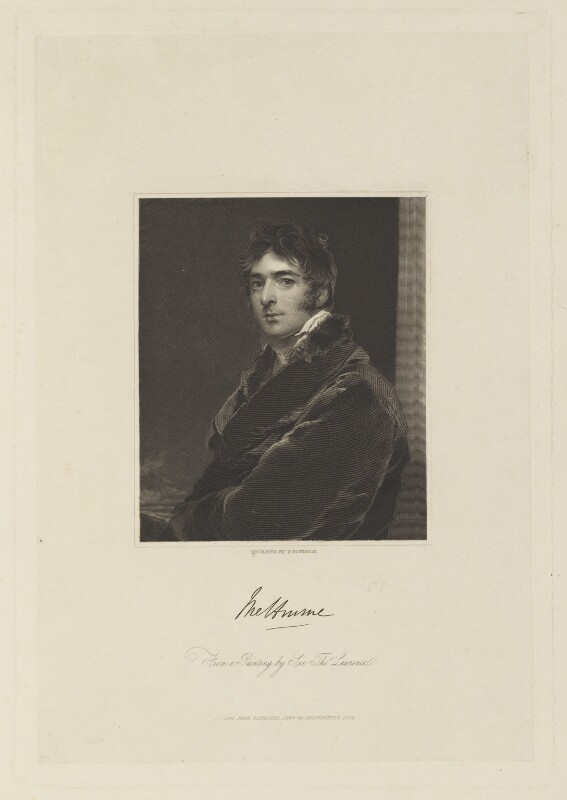 William Lamb, 2nd Viscount Melbourne, by John Henry Robinson, published by  John Saunders, after  Sir Thomas Lawrence, published 1840 (circa 1805) - NPG D15782 - © National Portrait Gallery, London