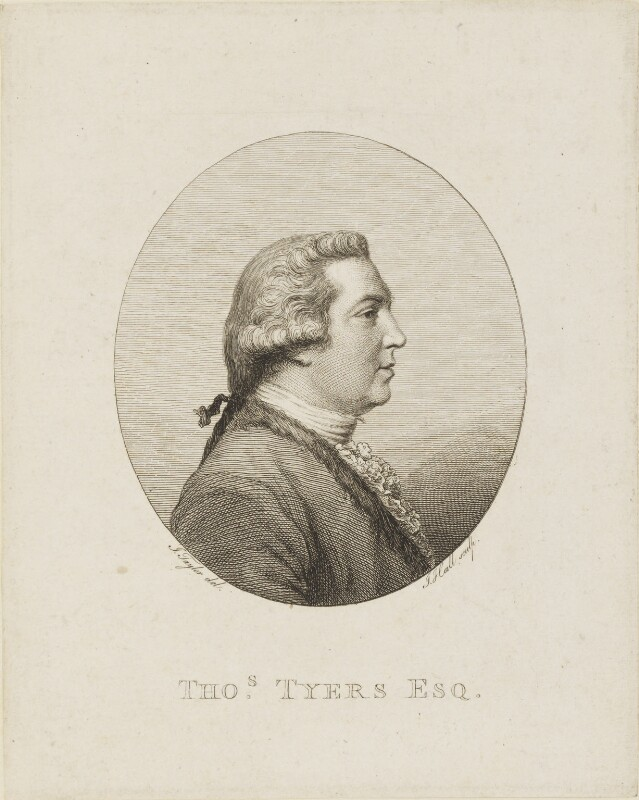 Thomas Tyers, by John Hall, after  John Taylor, circa 1775-1797 - NPG D15790 - © National Portrait Gallery, London