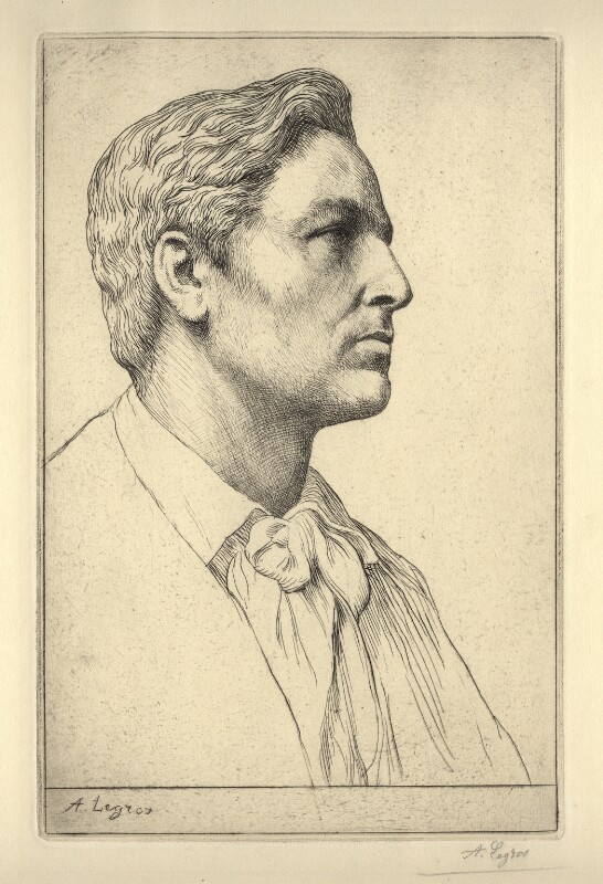 Sir Charles Holroyd, by Alphonse Legros, circa 1889 - NPG D18549 - © National Portrait Gallery, London