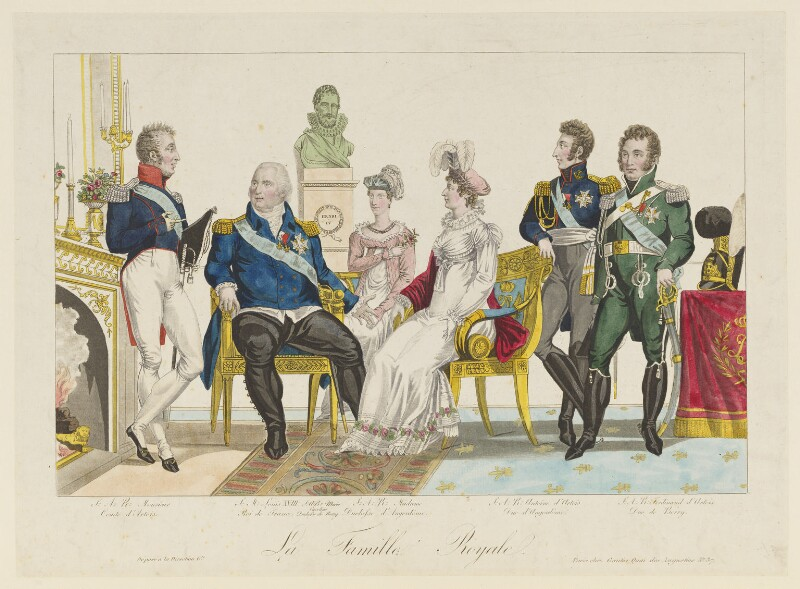 'La famille royale', published by Gautier, early 19th century - NPG D15836 - © National Portrait Gallery, London