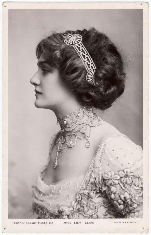 Lily Elsie (Mrs Bullough), by Foulsham & Banfield, published by  Rotary Photographic Co Ltd, 1908-1909 - NPG x126283 - © National Portrait Gallery, London