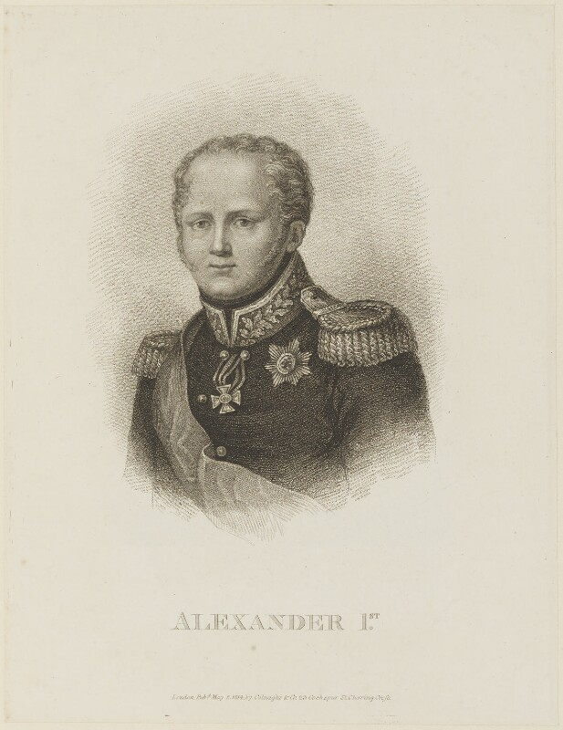 Alexander I, Tsar of Russia, published by Colnaghi & Co, published 2 May 1814 - NPG D15858 - © National Portrait Gallery, London