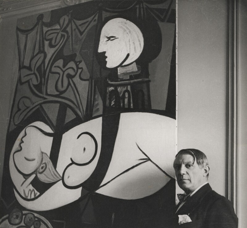Pablo Picasso with his painting of Marie-Thérèse Walter ('Nude, Green Leaves and Bust', 1932), by Cecil Beaton, 1933 - NPG x40327 - © Cecil Beaton Studio Archive, Sotheby's London