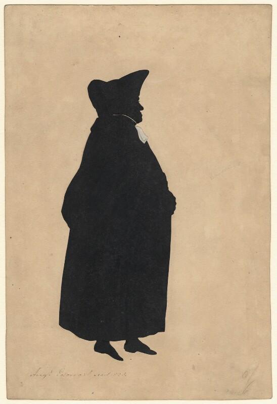 John Keate, by Augustin Edouart, 1828 - NPG D393 - © National Portrait Gallery, London