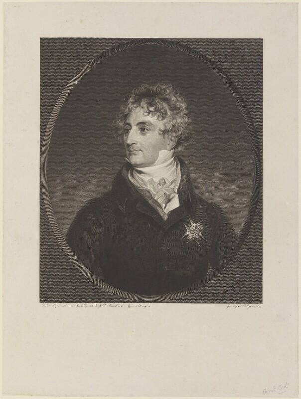 Armand Emmanuel du Plessis, duc de Richelieu, by Etienne Frederic Lignon, after  Sir Thomas Lawrence, 1824 - NPG D15923 - © National Portrait Gallery, London