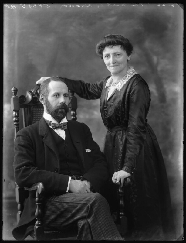 George Gordon, 2nd Marquess of Aberdeen and Temair; Mary Florence Gordon (née Clixby), Marchioness of Aberdeen and Temair, by Bassano Ltd, 1 February 1922 - NPG x80957 - © National Portrait Gallery, London