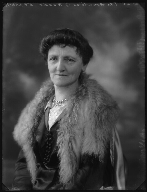Mary Florence Gordon (née Clixby), Marchioness of Aberdeen and Temair, by Bassano Ltd, 1 February 1922 - NPG x80959 - © National Portrait Gallery, London