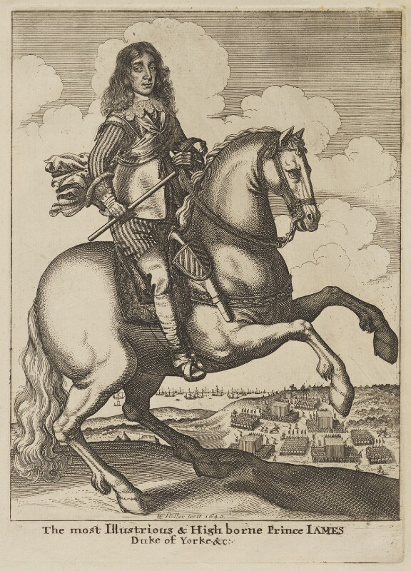King James II, by Wenceslaus Hollar, circa 1670 - NPG D18564 - © National Portrait Gallery, London