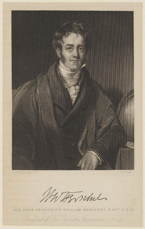 Sir John Frederick William Herschel, 1st Bt, by J. Cook, after  Henry William Pickersgill, 1845 or after - NPG D16022 - © National Portrait Gallery, London