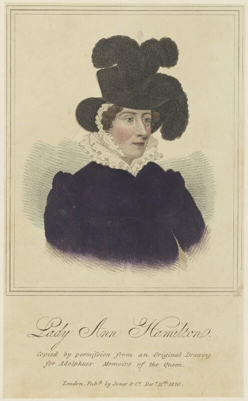 Lady Anne Hamilton, published by Jones & Co, published 11 December 1820 - NPG D16091 - © National Portrait Gallery, London