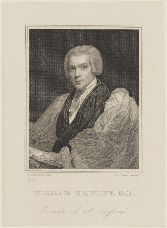 William Howley, by Thomas Anthony Dean, after  William Owen, circa 1819 - NPG D16114 - © National Portrait Gallery, London
