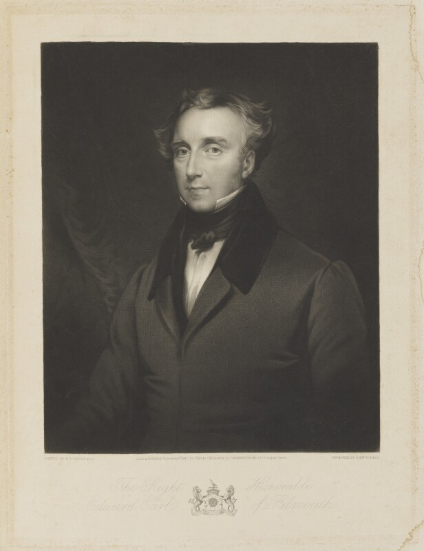 Edward Boscawen, 1st Earl of Falmouth, by John Porter, published by  Colnaghi and Puckle, after  Henry Perronet Briggs, published 8 November 1842 - NPG D16134 - © National Portrait Gallery, London