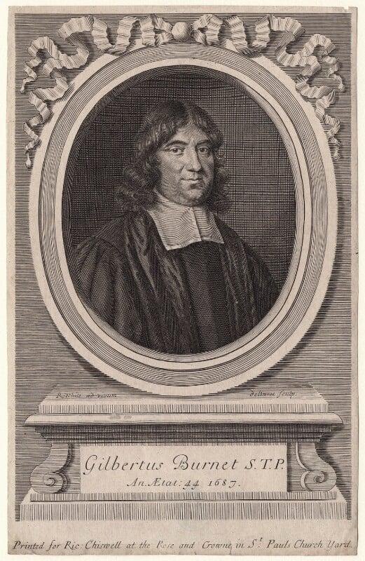 Gilbert Burnet, by Robert White, 1687 - NPG D18616 - © National Portrait Gallery, London