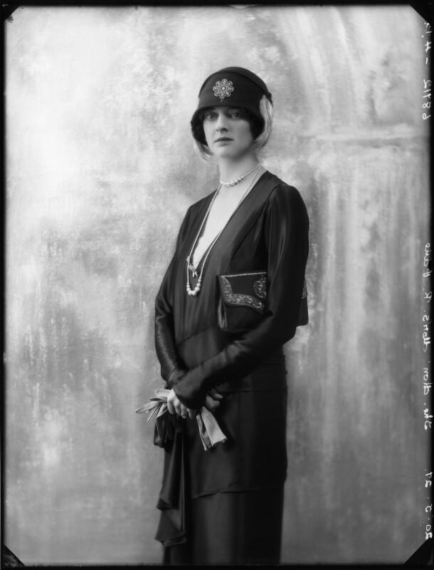 Kathleen Airini Vane (née Mair), by Bassano Ltd, 20 May 1927 - NPG x123907 - © National Portrait Gallery, London