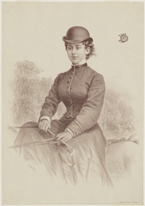 Lady Florence Caroline Dixie (née Douglas), by Andrew Maclure, published 1877 - NPG D16189 - © National Portrait Gallery, London