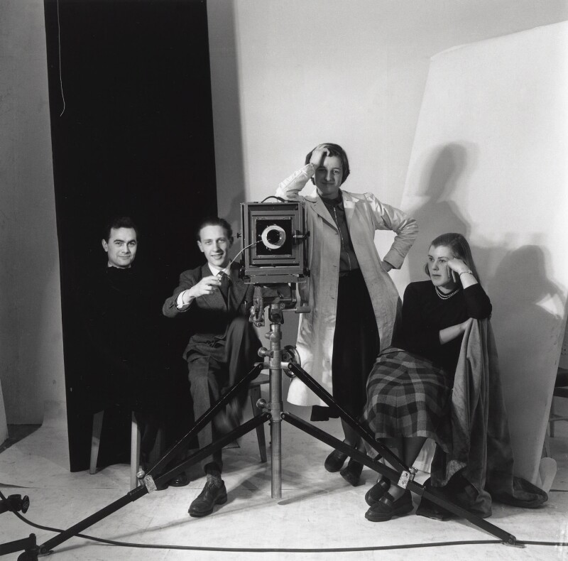 Vogue studio assistants (Roy Walwood; Gordon Bishop; Jane Felstead; Yvonne Rabbets), by Gordon Bishop, 1953 - NPG x126324 - © reserved; collection National Portrait Gallery, London