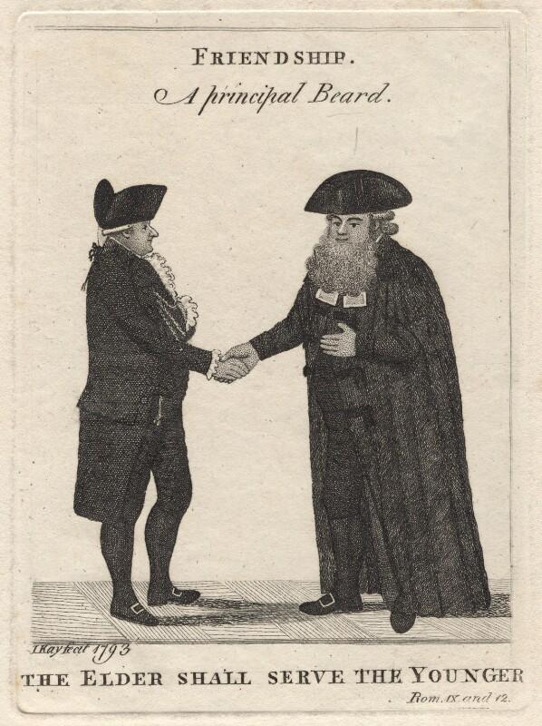 'Friendship' (George Husband Baird; Thomas Elder), by John Kay, 1793 - NPG D18664 - © National Portrait Gallery, London