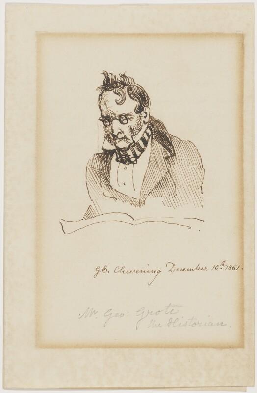 George Grote, by Sir George Scharf, 1861 - NPG D16200 - © National Portrait Gallery, London