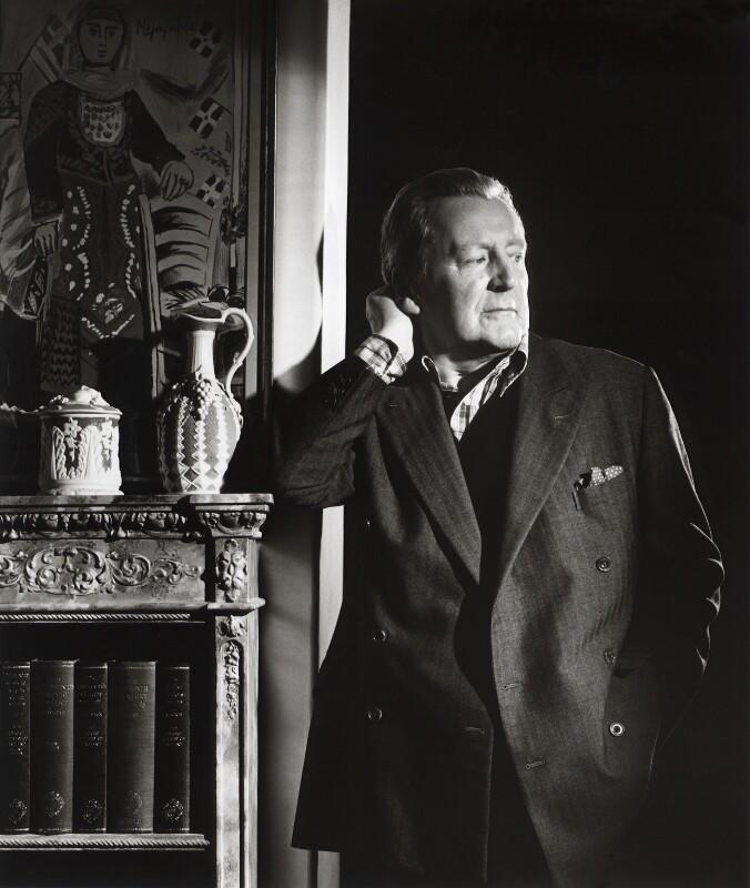 Richard Buckle, by Lucinda Douglas-Menzies, October 1987 - NPG x29870 - © Lucinda Douglas-Menzies / National Portrait Gallery, London