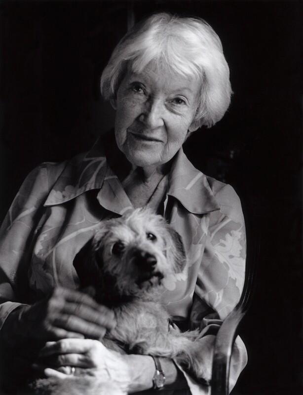 Dilys Powell, by Lucinda Douglas-Menzies, 1984 - NPG x29766 - © Lucinda Douglas-Menzies / National Portrait Gallery, London