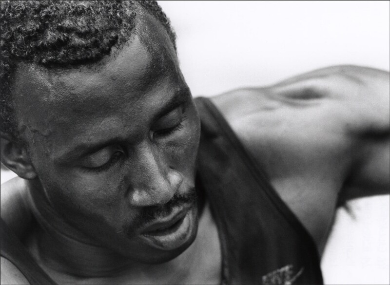 Linford Christie, by Robert Gallagher, 10 September 1993 - NPG x76542 - © Rob Gallagher / National Portrait Gallery, London