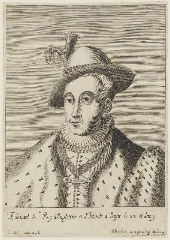 King Edward VI, by L. Petit, published by  Pierre Rocolet, 1646 - NPG D18732 - © National Portrait Gallery, London