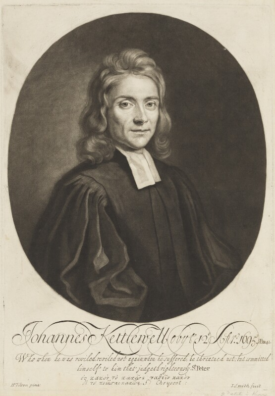John Kettlewell, by John Smith, after  Henry Tilson, circa 1725-1743 - NPG D18733 - © National Portrait Gallery, London