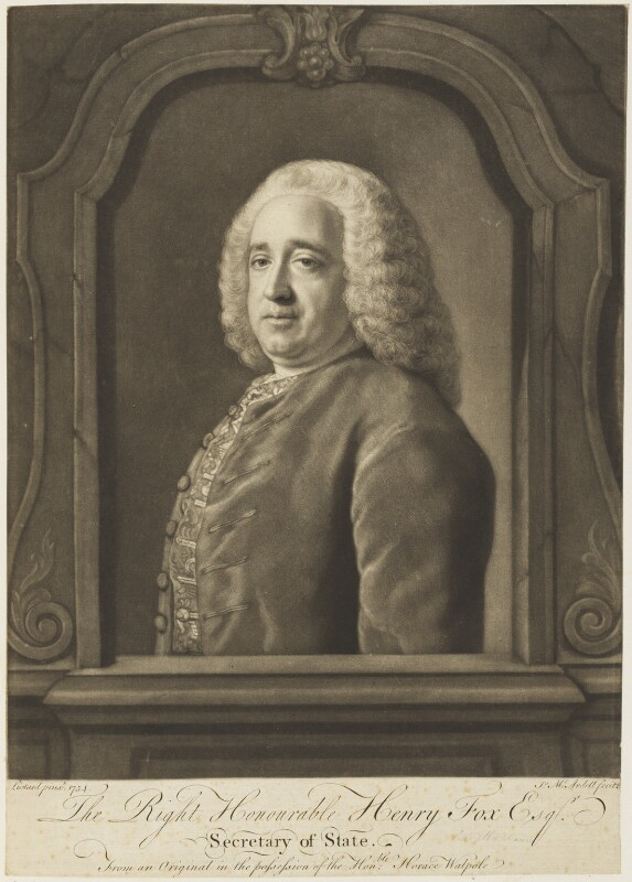 Henry Fox, 1st Baron Holland, by James Macardell, after  Jean Etienne Liotard, (1754) - NPG D18740 - © National Portrait Gallery, London