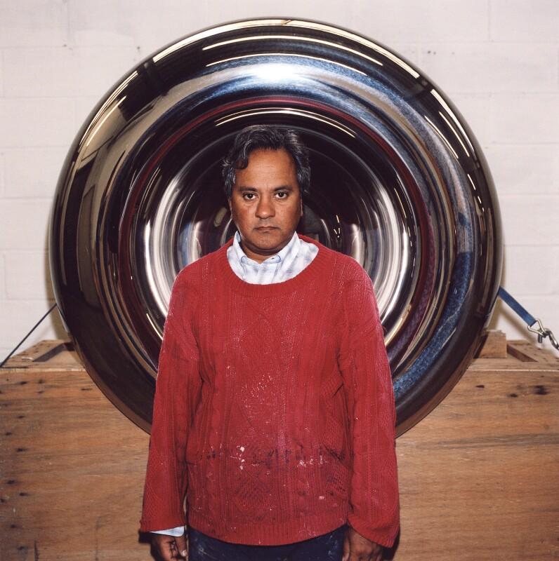Sir Anish Kapoor, by Trevor Ray Hart, 2003 - NPG x126336 - © Trevor Ray Hart