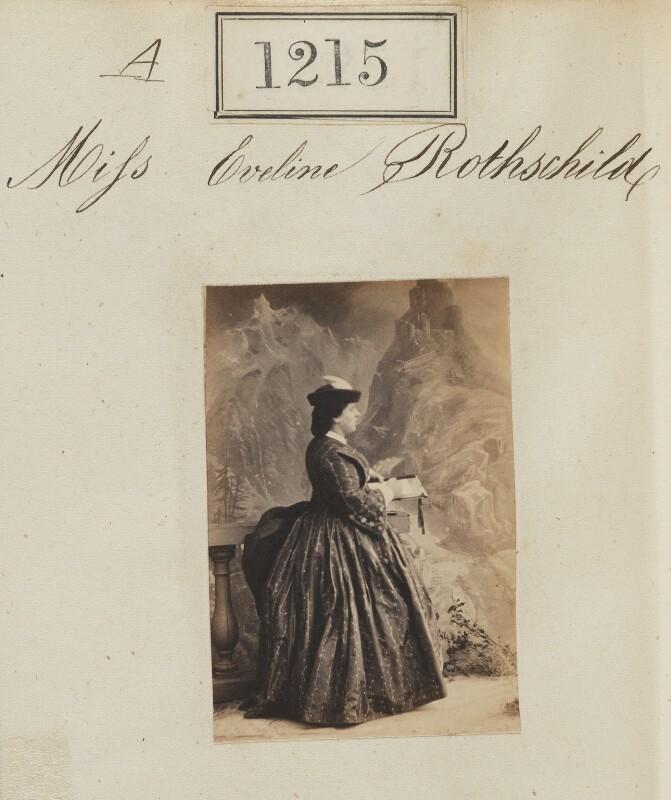 Evelina Gertrude de Rothschild, by Camille Silvy, 1860 - NPG Ax50657 - © National Portrait Gallery, London