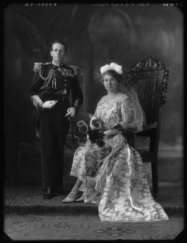 Sir Lionel George Preston; Emily Elizabeth (née Bryant), Lady Preston, by Bassano Ltd, 25 June 1925 - NPG x124028 - © National Portrait Gallery, London