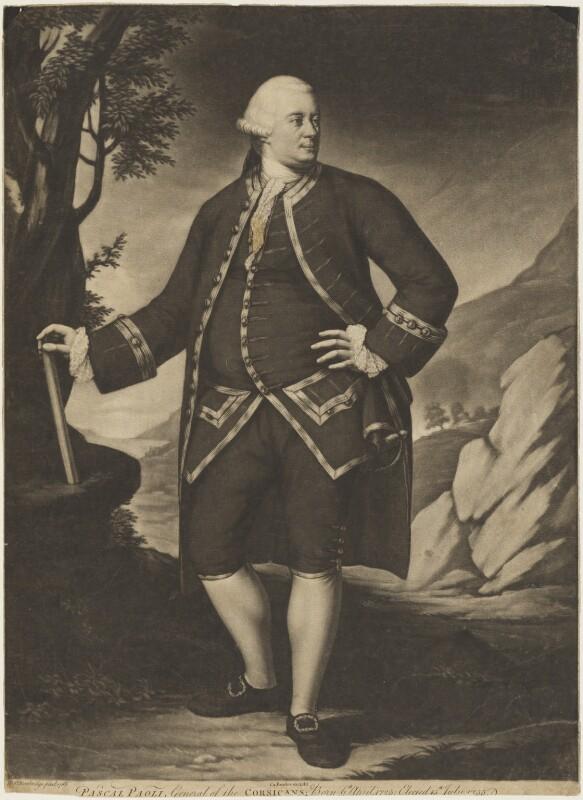 (Filippo Antonio) Pasquale Paoli, published by Carington Bowles, after  Henry Benbridge, published 1769 (1768) - NPG D18782 - © National Portrait Gallery, London