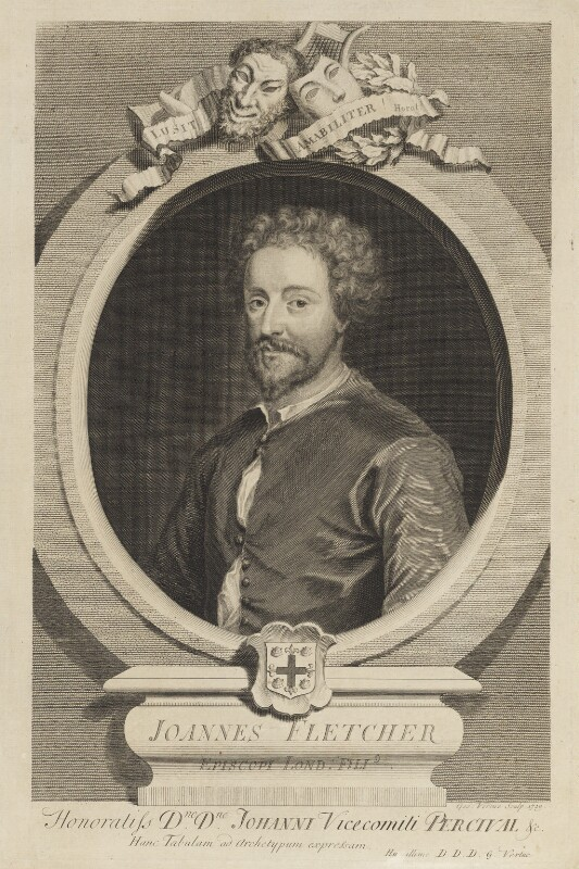 John Fletcher, by George Vertue, engraved 1729 - NPG D18803 - © National Portrait Gallery, London