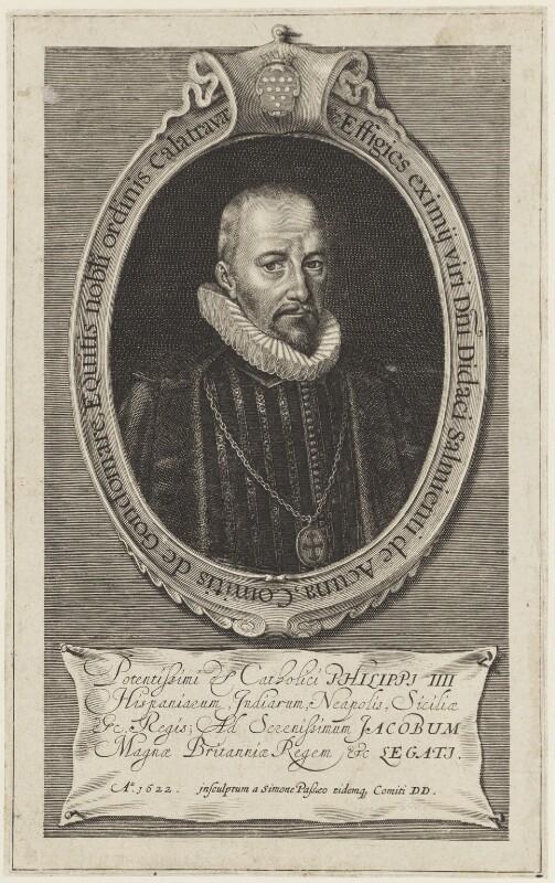Diego Sarmiento de Acuña, Count de Gondomar, by Simon de Passe, sold by  Thomas Jenner, 1622 - NPG D18807 - © National Portrait Gallery, London