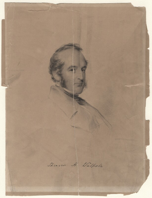 Spencer Horatio Walpole, by William Holl Jr, after  George Richmond, 1852 or after - NPG D16213 - © National Portrait Gallery, London