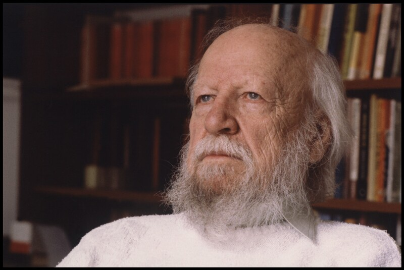 Sir William Gerald Golding, by David Hills, 11 December 1989 - NPG x47311 - © David Hills