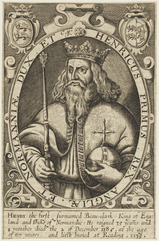King Henry I, by Renold or Reginold Elstrack (Elstracke), 1618 - NPG D18817 - © National Portrait Gallery, London