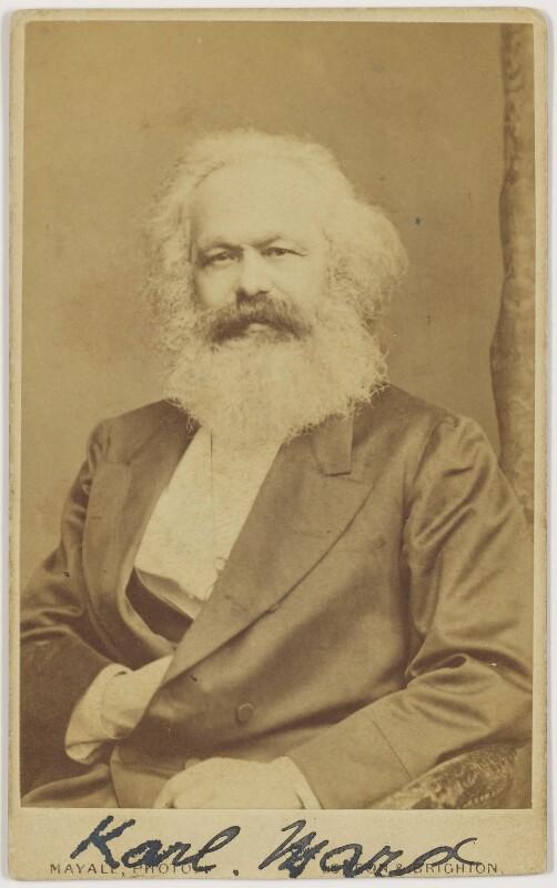 Karl Marx, by John Mayall, circa 1870 - NPG x126366 - © National Portrait Gallery, London
