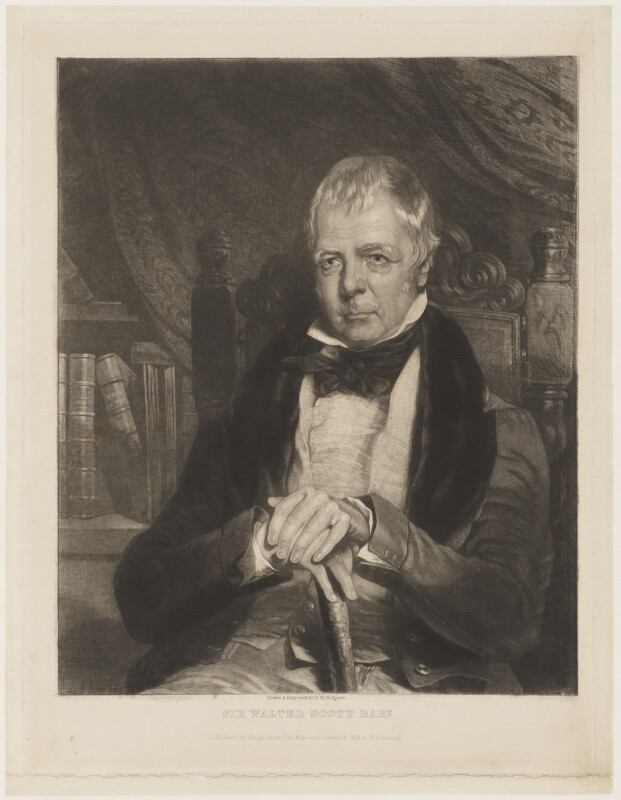 Sir Walter Scott, 1st Bt, by Robert Moore Hodgetts, published by  Hugh Paton, published 1837 or after - NPG D18854 - © National Portrait Gallery, London