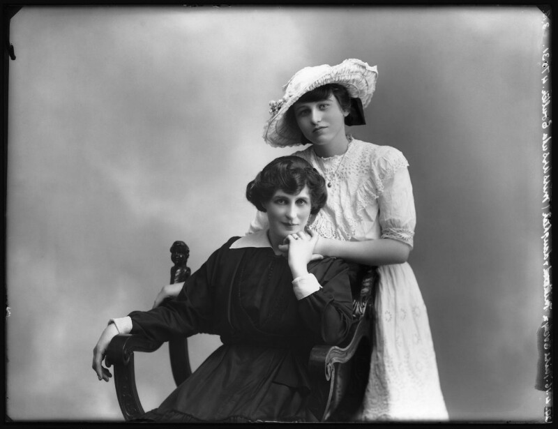 Evelyn Millard with her daughter Ursula Helen Coulter, by Bassano Ltd, 29 April 1916 - NPG x102368 - © National Portrait Gallery, London