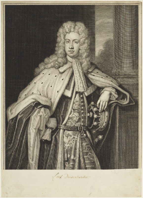 James Radcliffe (Radclyffe), 3rd Earl of Derwentwater, by and published by George Vertue, after  Sir Godfrey Kneller, Bt, engraved 1716 - NPG D18879 - © National Portrait Gallery, London